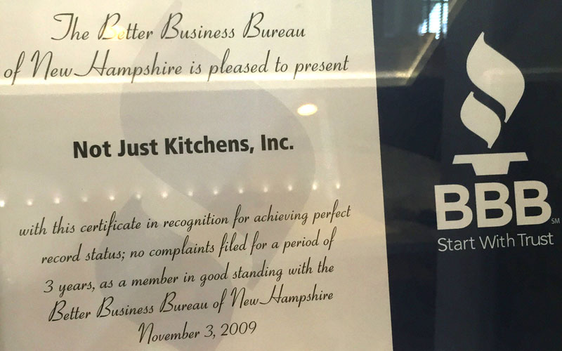 Not Just Kitchens :: Awards & Testimonials